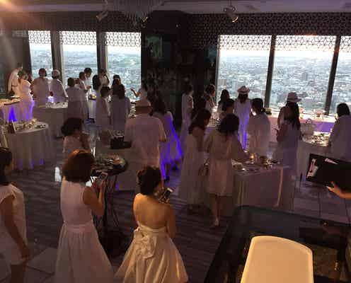 全てが純白に包まれるパーティー「La Sora WHITE NIGHT」がオシャレ