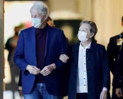 クリントン元大統領が退院 ヒラリー夫人に付き添われ