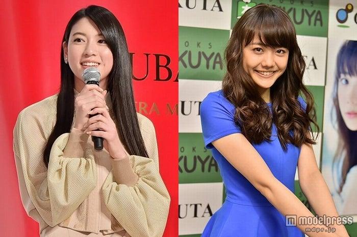 日本テレビ系「メレンゲの気持ち」にそろって出演した(左から)三吉彩花、松井愛莉【モデルプレス】