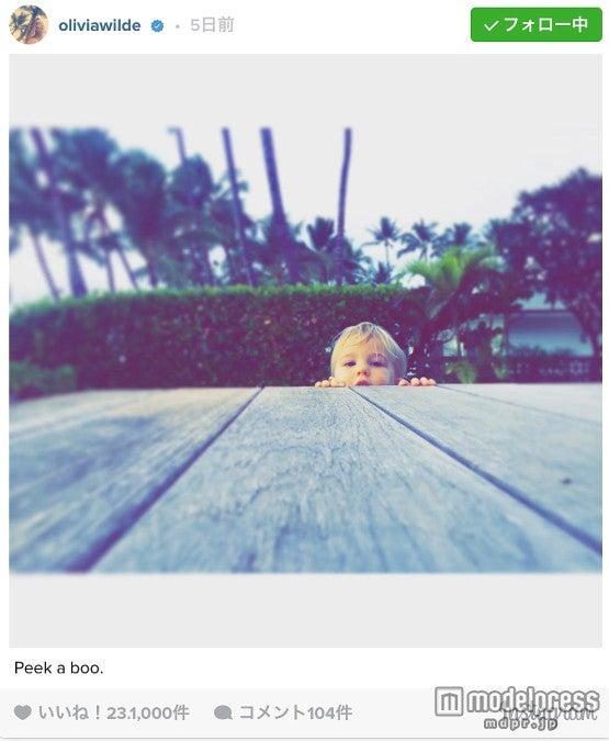 キュートなオーティスくん。Olivia Wilde Instagram