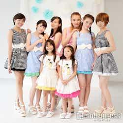 (前列左から)れんれん、るーりー(後列左から)ゆーこ、りーりー、麻鈴、うめまりい、アシュリー花、ココナ(C)モデルプレス