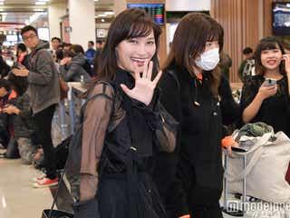 大政絢、河北麻友子、emmaら台湾降臨 空港は歓迎ムード一色に<ASIA FASHION AWARD 2017>