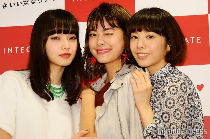 「インテグレート」の新ミューズの(左から)小松菜奈、森星、夏帆(C)モデルプレス