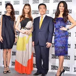 左から:絵美里、押切もえ、アイビージャパン株式会社谷本龍哉氏、神山まりあさん