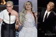 「第87回アカデミー賞」最も多くつぶやかれたセレブは?(左から)パトリシア・アークエット、レディー・ガガ、ジョン・レジェンド(photo:Getty Images)【モデルプレス】