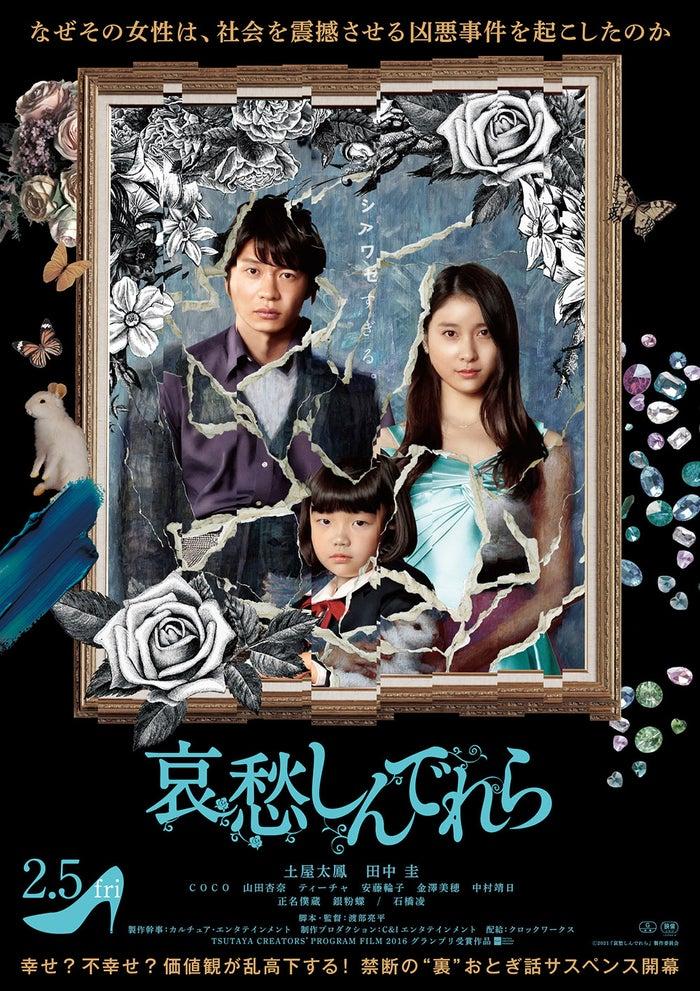 田中圭、土屋太鳳、COCO/ポスタービジュアル(C)2021 『哀愁しんでれら』製作委員会