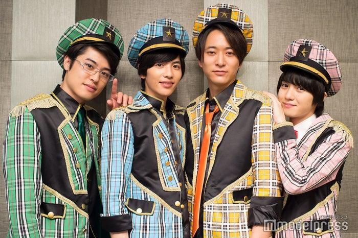 モデルプレスのインタビューに応じた(左から)堀井新太、志尊淳、浅香航大、小越勇輝 (C)モデルプレス