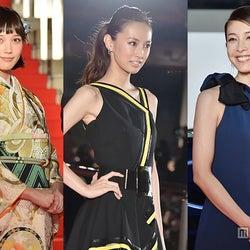 <写真特集>北川景子、本田翼、竹内結子ら女優陣、華やか衣装でレッドカーペット降り立つ「第28回東京国際映画祭」