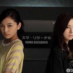 北川景子(右)、川口春奈(左)