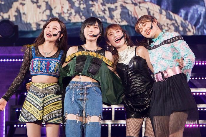 村瀬紗英、太田夢莉、吉田朱里、渋谷凪咲(C)NMB48