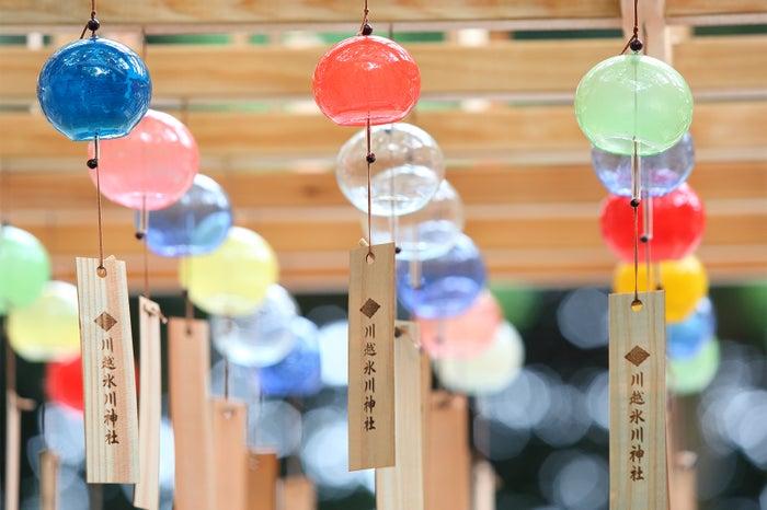 すべて手作り、色鮮やかな江戸風鈴/画像提供:川越氷川神社