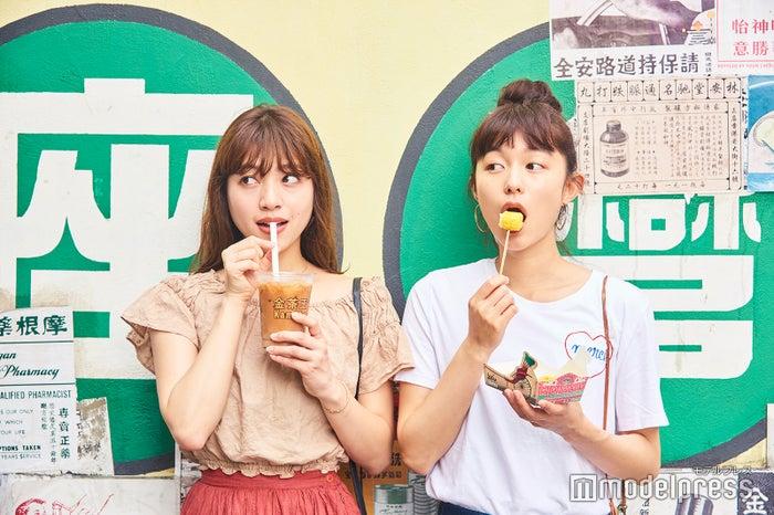 プリンとした歯ごたえのフィッシュボール、香港式ミルクティーの名店「金茶王」の濃厚ミルクティーでひと休み。<br> (C)モデルプレス