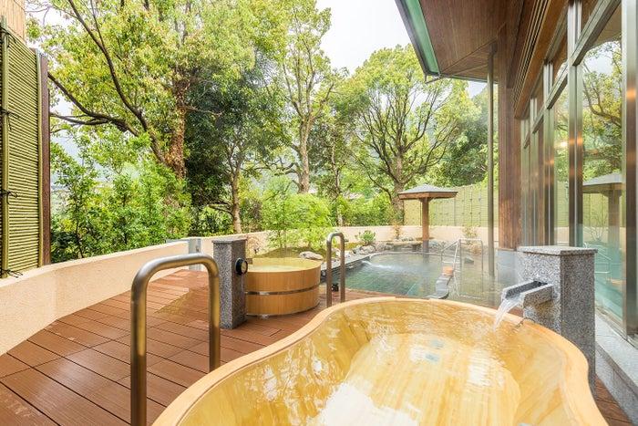 樹齢200年の木を使ったひとり用檜風呂/画像提供:一般財団法人休暇村協会