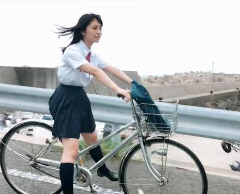 """欅坂46長濱ねる、制服で""""自転車デートなう""""「映画かな?」「こんな青春を送りたかった」の声"""