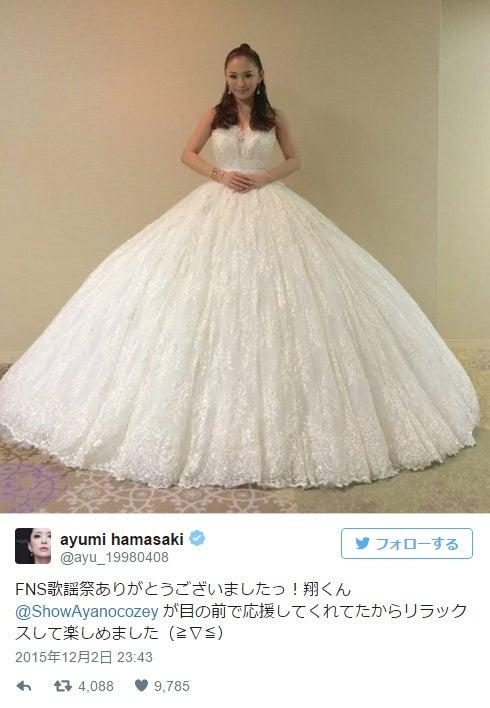 FNS歌謡祭に出演した浜崎あゆみ/Twitterより【モデルプレス】