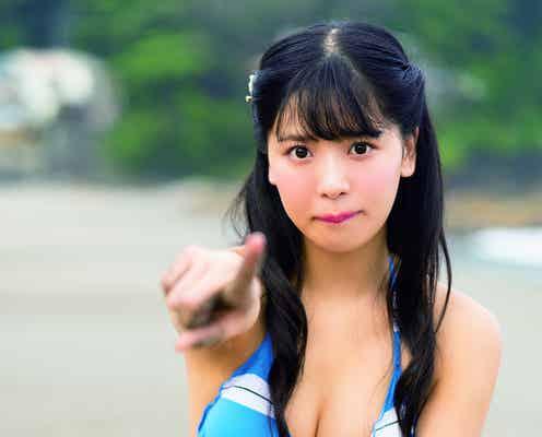 NMB48安田桃寧、ビキニで美バスト披露 メイド風水着も