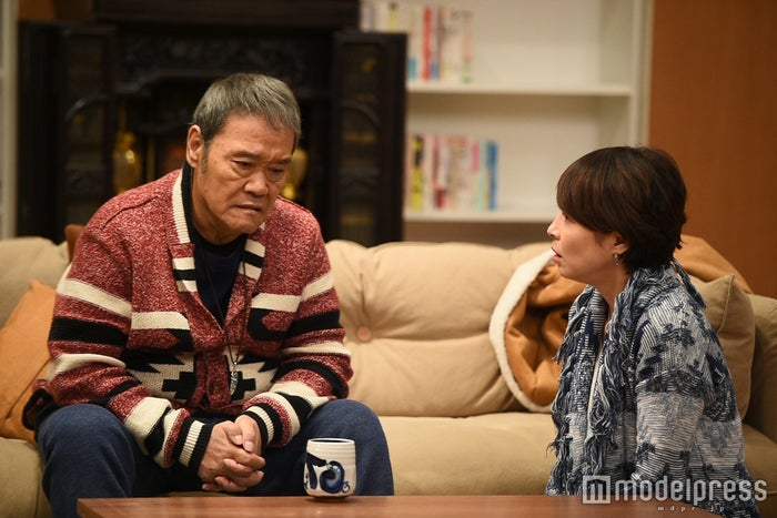 西田敏行、水野美紀/「家族ノカタチ」第9話より/画像提供:TBS