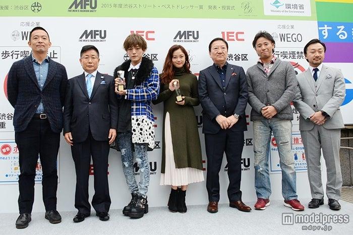 第4回渋谷ストリート・ベストドレッサー賞の受賞式の様子
