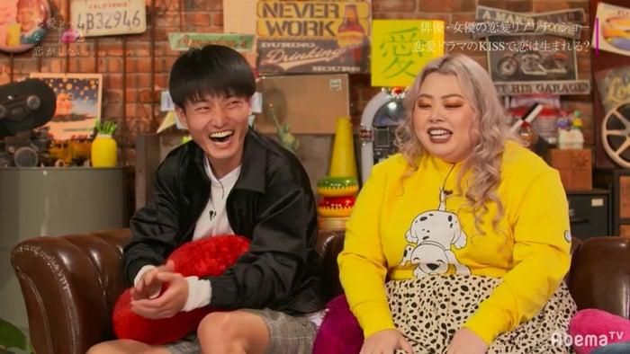 (左から)福徳秀介、渡辺直美(C)AbemaTV
