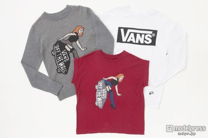 前回即完売となった「VANS」とのコラボアイテム・ロゴスウェット、Tシャツ、ニット(9月13日より順次発売)