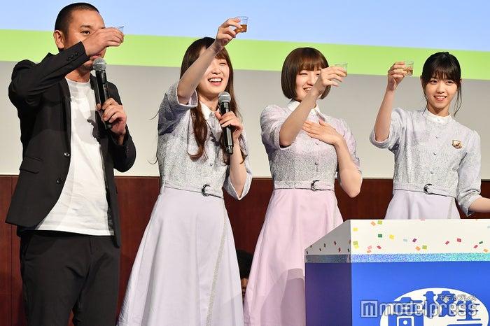 大悟、高山一実、中田花奈、西野七瀬がセンブリ茶罰ゲーム (C)モデルプレス