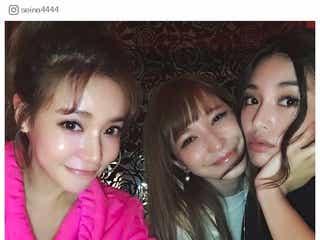 島袋聖南&藤井リナ&大沢ケイミ、美肌輝く女子会ショットに反響「艶美人」「まぶしい」