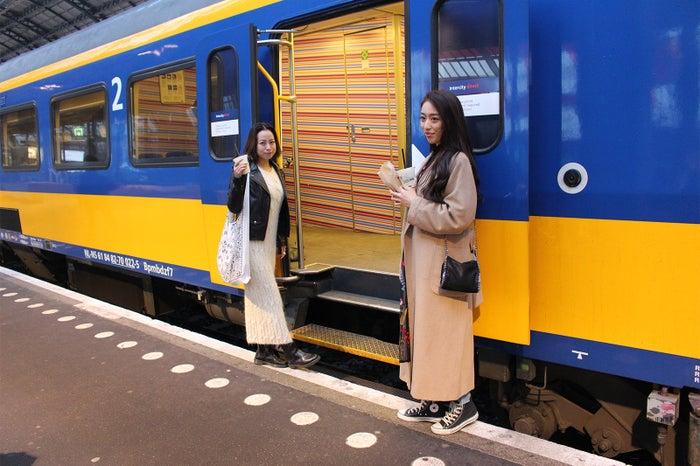 イエローとブルーの車体がお洒落なオランダ鉄道(NS)(提供写真)