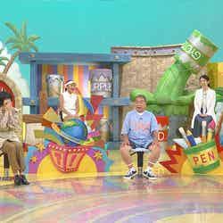 松本薫、小松菜奈、野田すみれ、出川哲朗、丸田佳奈、IKKO (C)日本テレビ