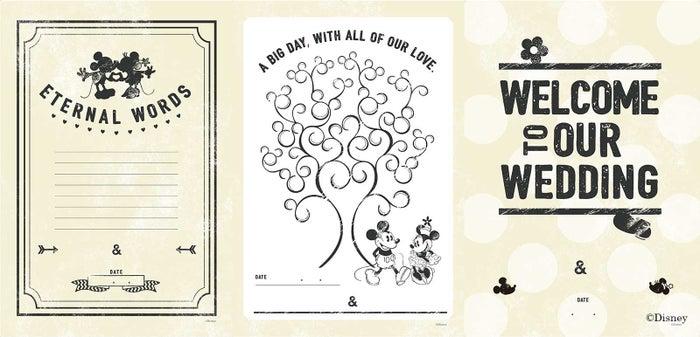 カジュアルデザイン(左から)ウェルカムボード、ウェディングツリー、Eternal Wordsシート