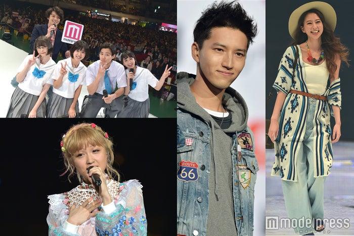 (左上)野村周平らモデルプレスステージ、(左下)Dream Ami、(右から2番目)田口淳之介、(右)河北麻友子/(C)モデルプレス