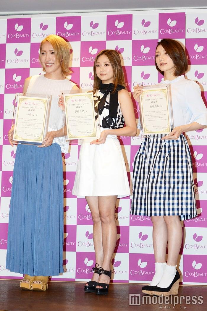 (左から)ゆしん、伊藤千晃、後藤真希(C)モデルプレス
