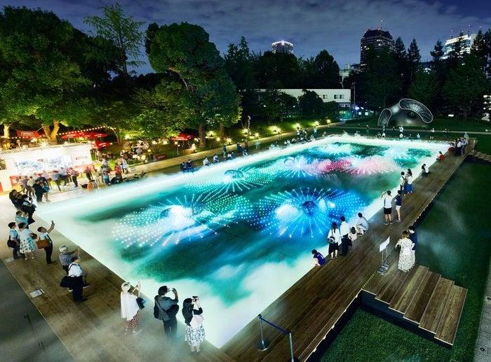 光と霧のデジタルアート庭園/画像提供:東京ミッドタウンマネジメント