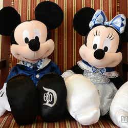 ミッキーマウス&ミニーマウスのぬいぐるみ/各$34.95