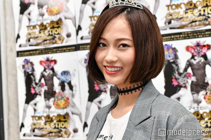 受賞後、モデルプレスのインタビューに応じた阿部桜子さん(C)モデルプレス