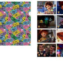 A4クリアファイル Vol.1 全1種  400円、A5クリアファイル(ランダム10種) 350円(C)Disney/Pixar(C)POOF-Slinky,LLC