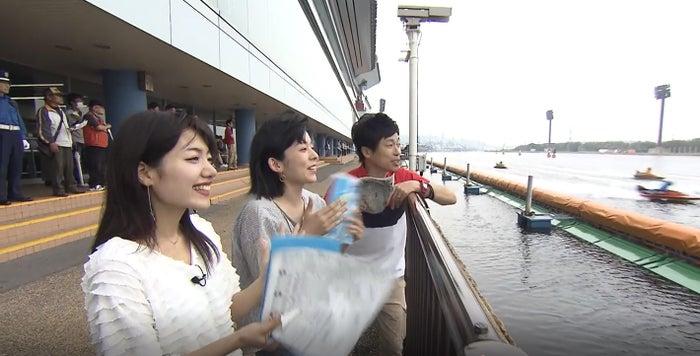 ボートレース若松(左から)市山真理菜、山村実代、岡本啓/画像提供:BOAT RACE振興会
