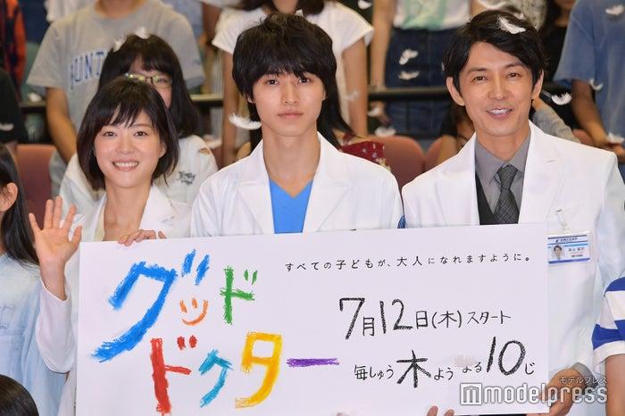 (左から)上野樹里、山崎賢人、藤木直人(C)モデルプレス