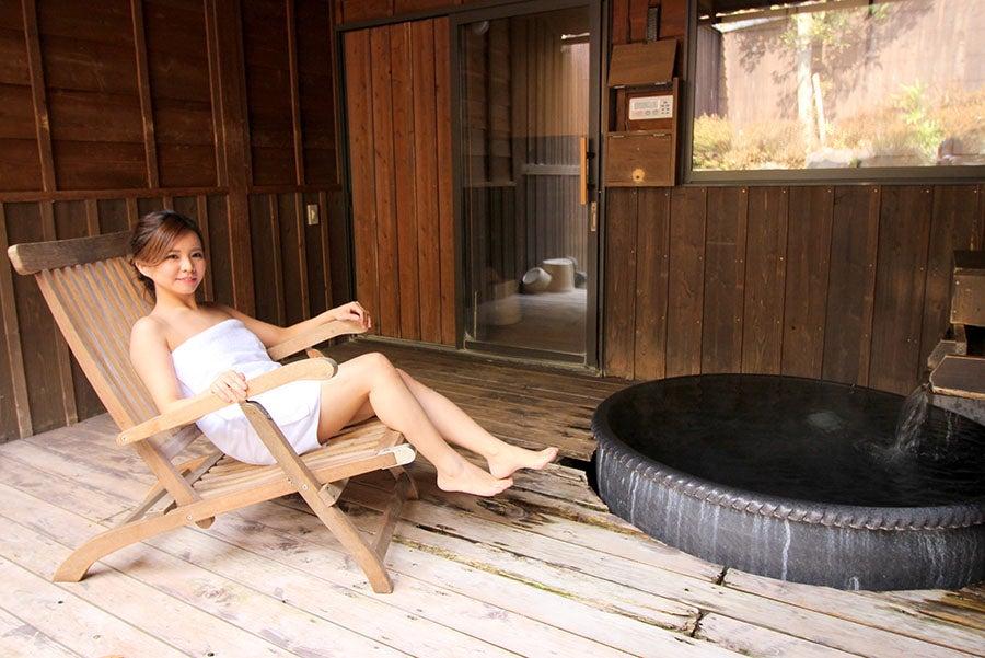 おがわ温泉 花和楽の湯 露天風呂