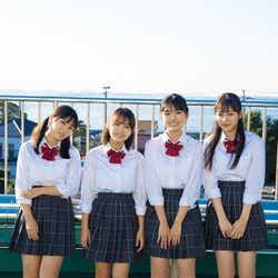 (左から)沢口愛華、寺本莉緒、豊田ルナ、吉澤遥奈(C)LUCKMAN /ヤングマガジン
