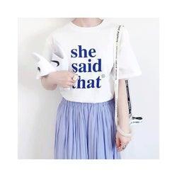 ロング丈のギャザースカートでつくる、おしゃれな旬コーデ11選|ふわりギャザーで爽やかに。