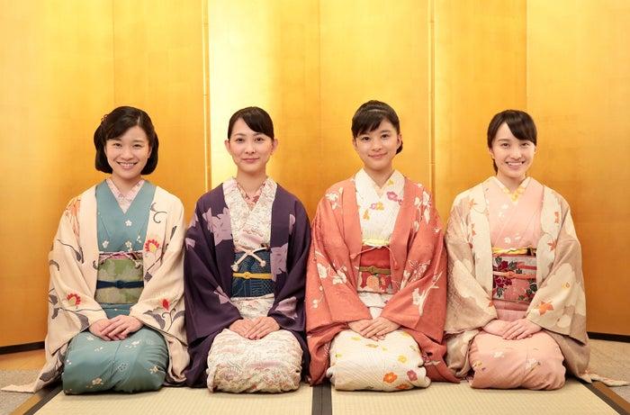 (左から)土村芳、谷村美月、芳根京子、百田夏菜子(C)NHK