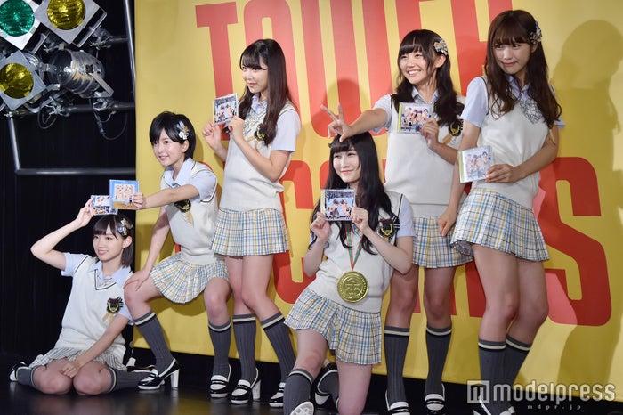 NMB48(左から)太田夢莉、須藤凜々花、白間美瑠、矢倉楓子、薮下柊、渋谷凪咲(C)モデルプレス