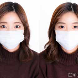 マスクメイクの印象は眉で変わる/普段の眉(左)と「ORBIS(オルビス)『AIアイブローシミュレーター』」の診断結果をもとにメイクした眉(右)(C)モデルプレス