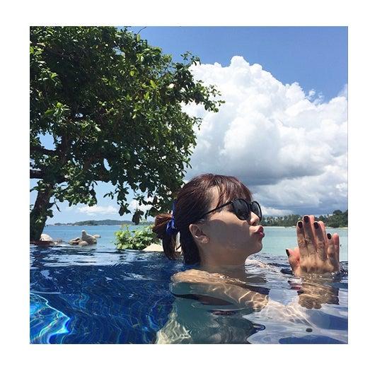 インドネシアのビンタン島でGWを過ごしたヨンア/ヨンアInstagramより【モデルプレス】
