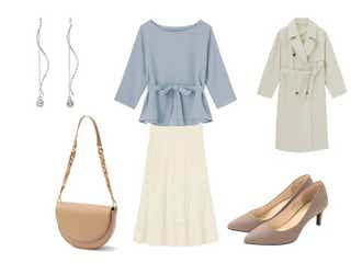 【全身GU】オフィスもデートもOK♡高見えスカートで作る上品モテコーデ