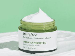 ゆらぎ肌は、お茶でケア!「イニスフリー」に緑茶乳酸菌配合のクリームが登場