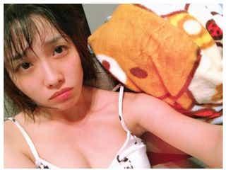 """今野杏南、胸元チラリ…SEXYな""""おやすみ""""ショットに「すっぴん?」「色気ある」と反響"""