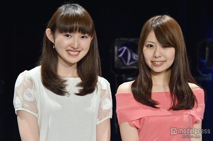 フードフェスアイドル・Re:ガールズに加入した(左から)福井有彩さん、白石柚月さん