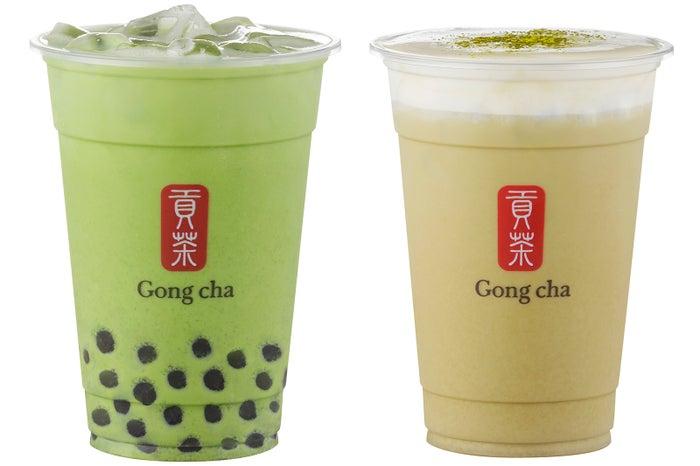 ゴンチャ「玉露 ミルクティー」「ほうじ茶 ミルクティー」国産茶葉の贅沢な味わい/画像提供:ゴンチャ ジャパン