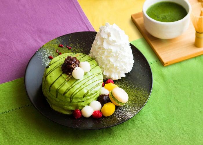 「京都限定 宇治抹茶パンケーキ」/画像提供:Eggs'n Things Japan